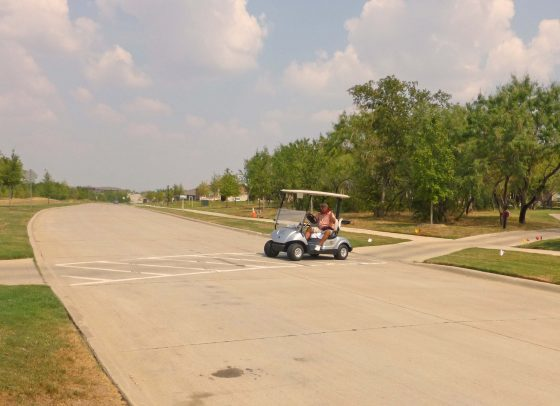 Golf Cart Crossing #2: On the southwest corner of Frisco Lakes Drive.
