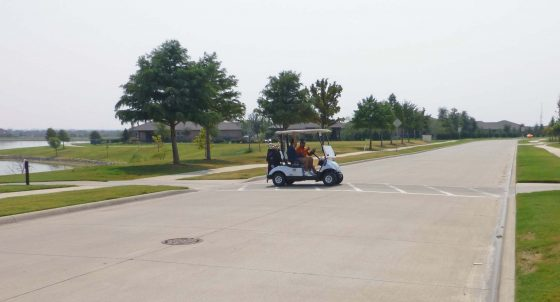 Golf Cart Crossing #1: Approaching from the north and east