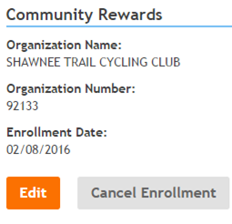 Kroger Community Rewards Enrolled